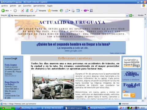 Actualidad Uruguaya captura depantalla
